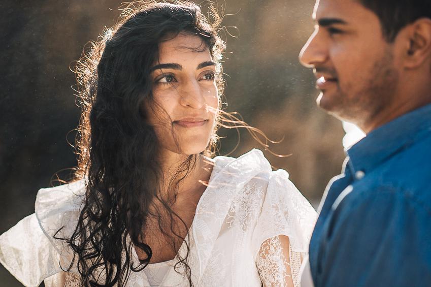 Indian Couple Engagement Photo